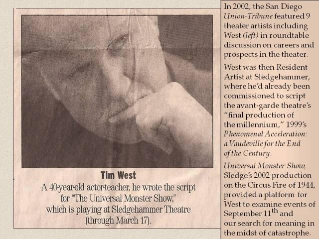 Ann Marie Welsh w/9 professional theatre artists